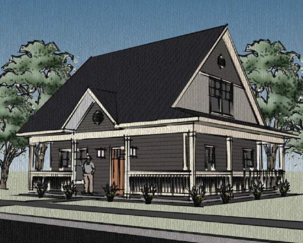 Traditional Cape Cod with Wrap Around Porch 174