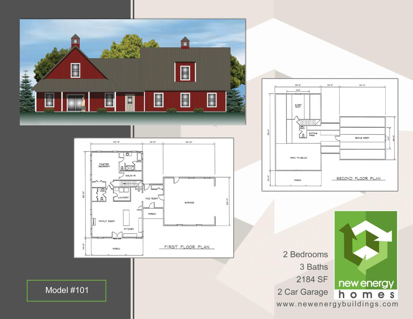 Barn Style Home NEH Model 101 New Energy Homes