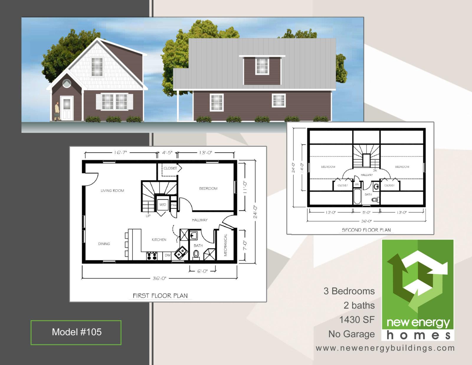 Market Street Classic Home NEH Model 105 New Energy Homes – Classic Home Floor Plans