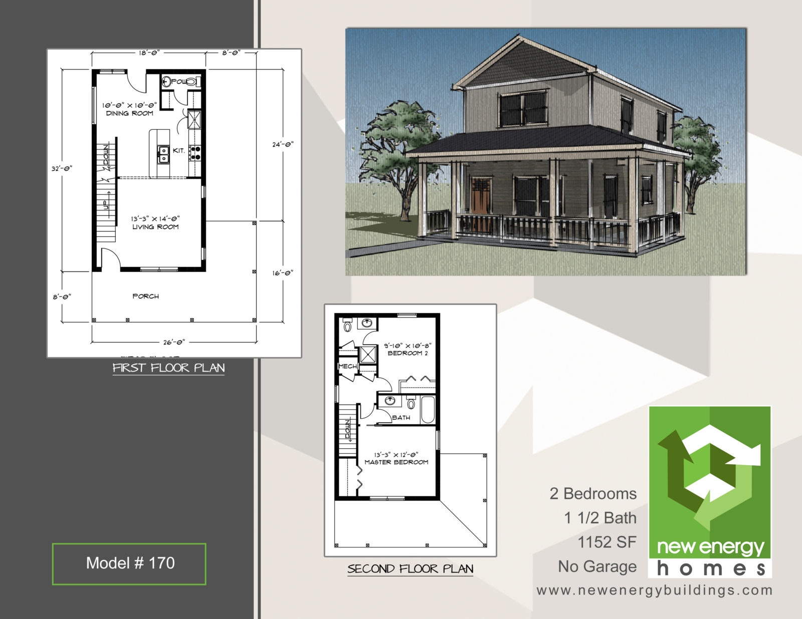 Two story farm house neh model 170 new energy homes for Two story model homes